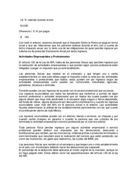 calculado de isr de ptue 2016 calculado fiscal anual isr articulo 152 tarifa de art