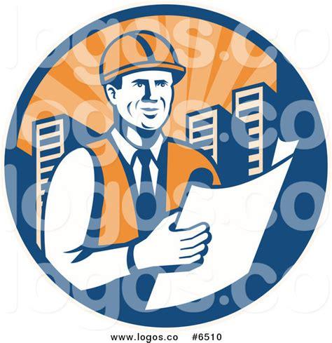 royalty free building contractor clip art vector images royalty free clip art vector logo of a happy construction