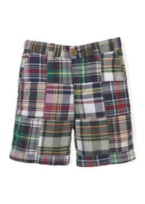 Ralph Patchwork Shorts - ralph madras plaid patchwork shorts navy