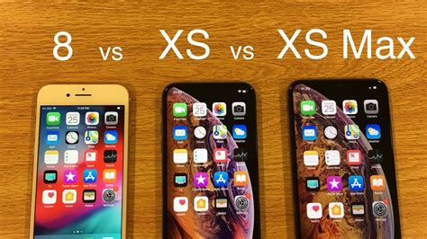 iphone 8 vs iphone xs vs iphone xs max speed test comparison