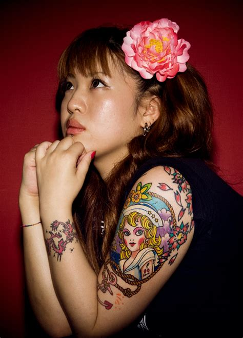 girl japanese tattoo designs half sleeve ideas for designs