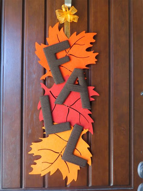 diy fall door decorations moved permanently