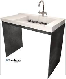 Height Of Wheelchair Vanity Ada Compliant Sink Concrete On A Steel Base Could Be For
