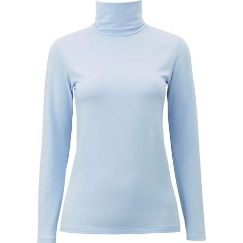 light blue turtleneck mens uniqlo women heattech extra warm turtleneck t shirt in
