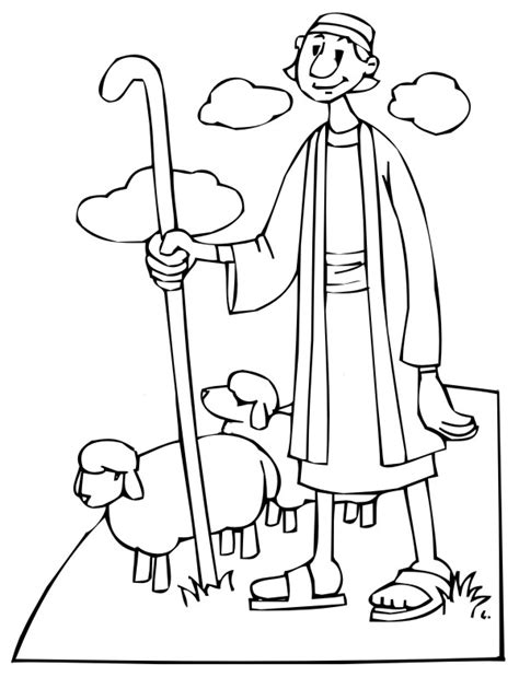 shepherds free colouring pages