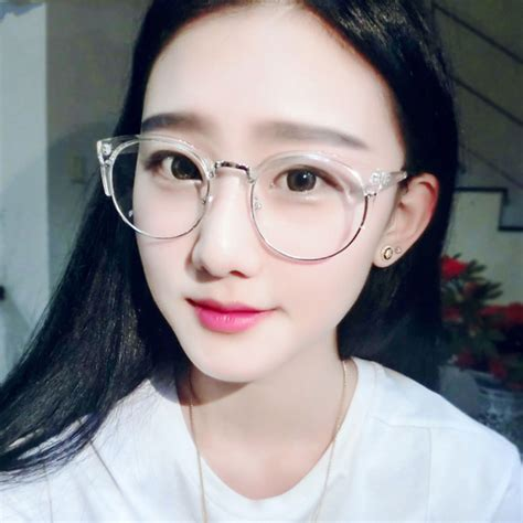 transparently trendy the clear glasses vintage round transparent glasses frame for women cat eye