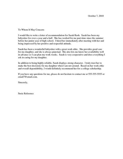 Letter Of Recommendation Seneca College scholarship recommendation letter scholarship