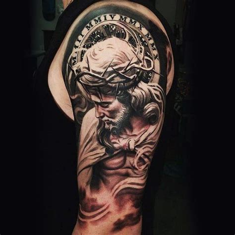 religious arm tattoos for men 25 best ideas about religious tattoos for on