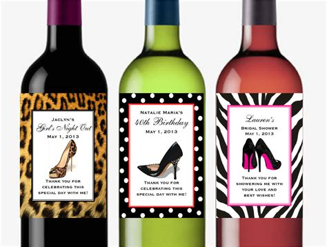 wine birthday personalized stiletto high heel shoes wine bottle by