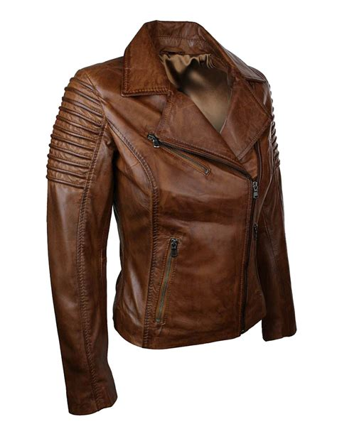ladies brown leather biker women brown leather motorcycle jacket xtremejackets