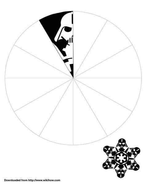 wars snowflake templates free printable darth vader snowflake template wikihow