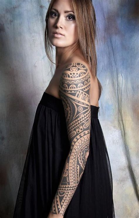 tribal sleeve tattoos for women pin by inspiring ink on chic womens tattoos