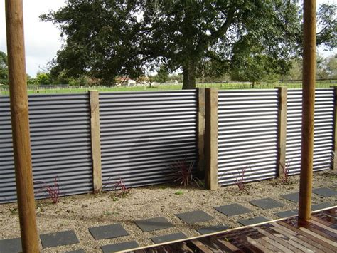 corrugated metal fence ideas corrugated metal privacy screen less framing screening decorative and privacy