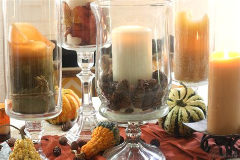 Dollar Tree Hurricane Vase by Thanksgiving On Pumpkins
