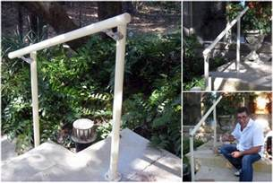 Installing Handrail Easy To Install Outdoor Stair Railing Projects