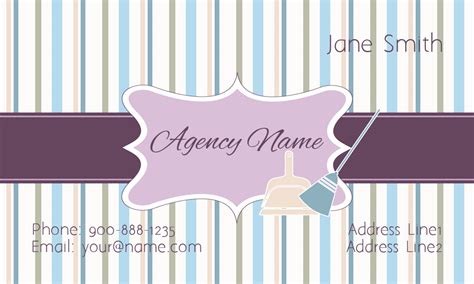 house cleaning company purple house cleaning business card design 1301081