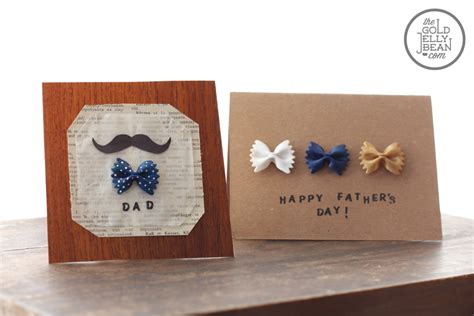 fathers day cards to make diy s day cards with bow tie pasta the gold jellybean