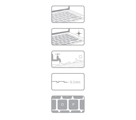 moshi clearguard mb us layout keyboard protector ultra thin macbook air keyboard protector clearguard mb