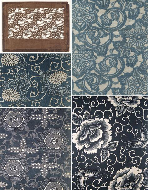 japanese pattern history history of surface design katagami katazome pattern