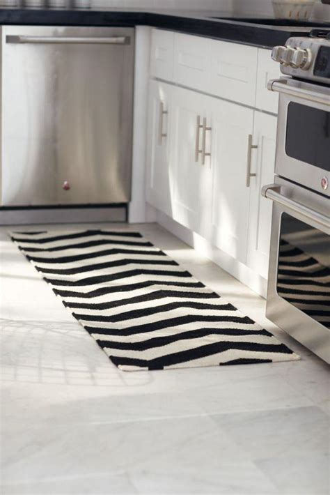 modern white rug black and white striped kitchen rug rugs ideas