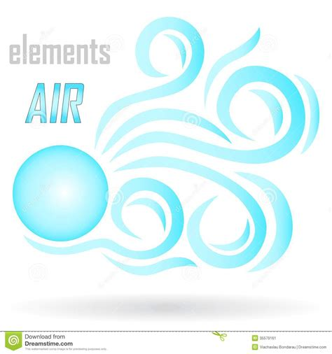 design is in the air abstract icon stock image image 35579161