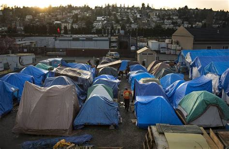seattle tent cities solution  homelessness  unproven