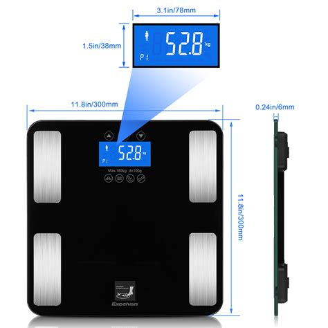 Bathroom Scale Uk excelvan digital bathroom scale tempered glass scale weight scale 400lb ebay