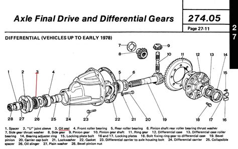 diagram of differential how to fix a leaky differential on a fiat spider