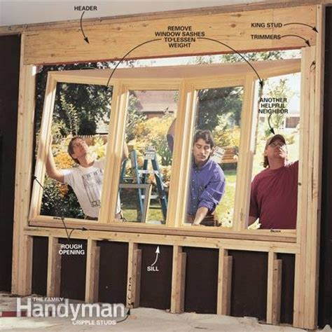 how to install a new window in an old house how to install a bow window the family handyman