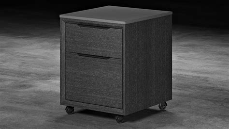 Modern File Cabinet Modern Adal Mobile File Cabinet Concrete On Gray Oak Zuri Furniture