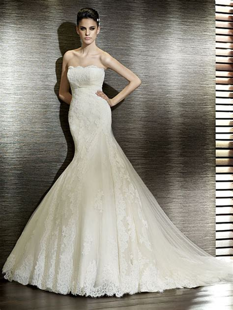 imagenes de vestidos de novia con olanes galer 237 a categor 237 a sirena imagen vestido de novia