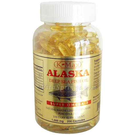 K Max Alaska Sea Fish Omega 369 1000mg Minyak Ikan golden alaska sea fish omega 3 1000mg 200 caps
