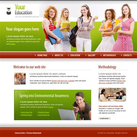 educational templates students education xhtml template 5623 education