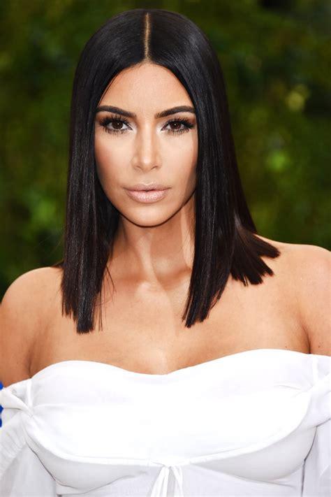 all k hairstyles kim kardashian met gala 2017 sleek lob instyle com
