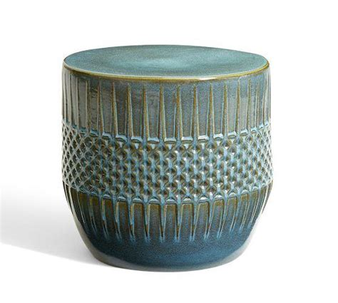 ceramic accent table ceramic ethnic blue accent table