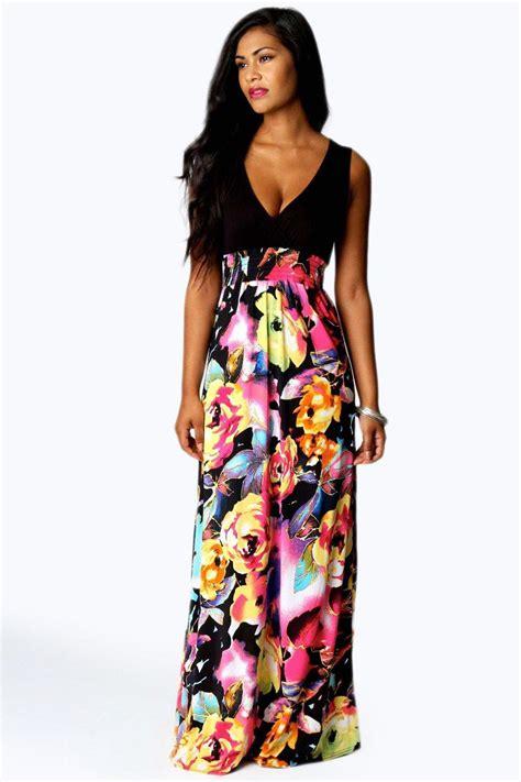 pattern dress boohoo petite kiera rose print maxi dress at boohoo com
