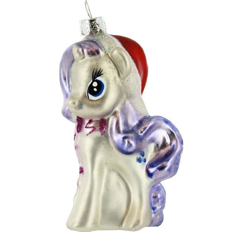 my little pony rarity glass christmas tree ornament