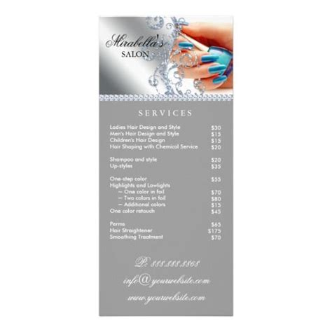salon rack card template 1000 images about salon business cards promotion on