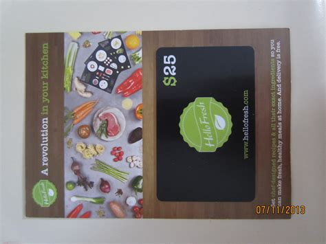 Hello Fresh Gift Card - love with food july review