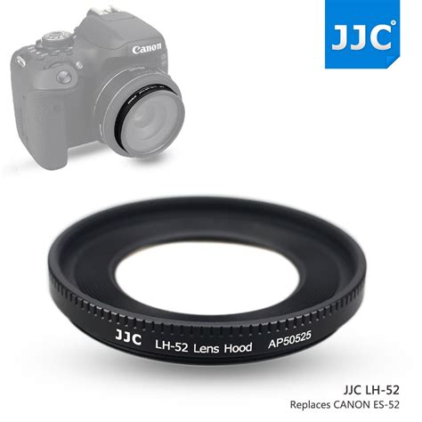 Jjc Lens Metal Replaces Canon Es 52 For Ef M 18 55mm F35 55 aliexpress buy jjc metal lens shade for canon ef 40mm f 2 8 stm ef s 24mm f 2 8 stm