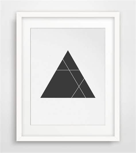 printable minimalist art minimalist triangle print black and white black geometric
