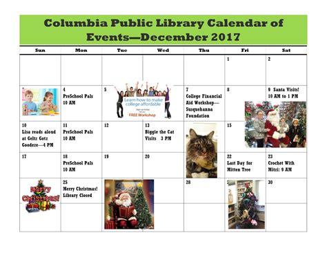 columbia spy columbia library calendar