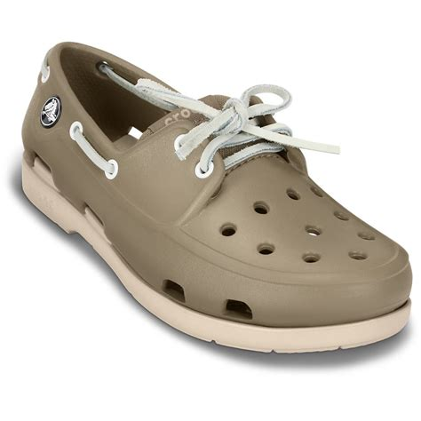 crocs men s beach line boat shoe rubber boat shoes crocs that look like boat shoes style guru fashion