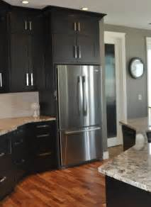 Dark Gray Cabinets Kitchen by Dark Cabinets With Gray Walls This Is What I Think I