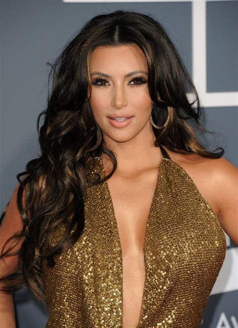 hairstyles for long hair kim kardashian kim kardashian long hairstyles center parted hairstyles
