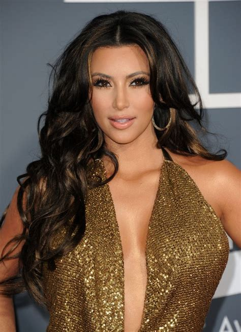 kim kardashian hair color highlights kim kardashian long hairstyles center parted hairstyles