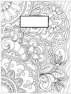 Coloring Page Binder Cover by The Busy Free Printables Library Coloring