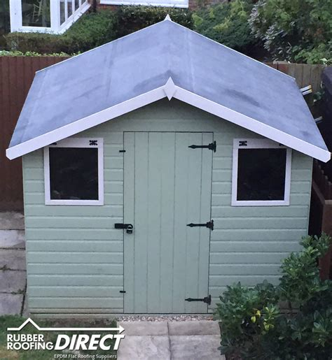 Shed Roof Covering by Rubber Sheds Roofing Shed Roof Covering Epdm Kits