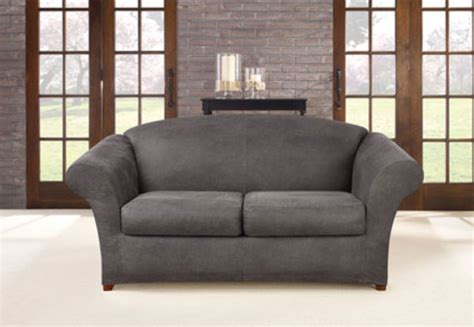 leather sofa cover ultimate stretch faux leather sofa cover