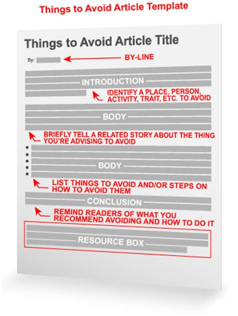 the pain avoidance article template things to do article template